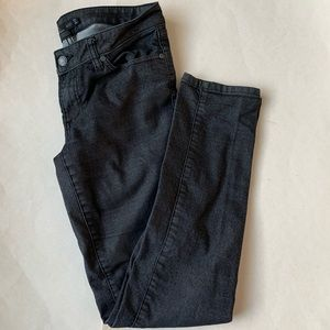 PrAna charcoal gray/black skinny straight jeans